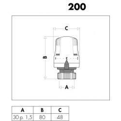 Comando termostatico per radiatori 200000 caleffi