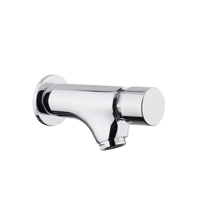 Wall mounted timed washbasin mixer with push button Idral Modern 08200