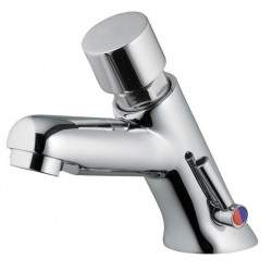 Timed basin mixer with...