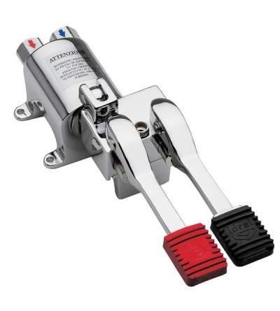 rubinetto pedale progressivo con disposizione bloccaggio per erogazione continua idral foel 02075/1