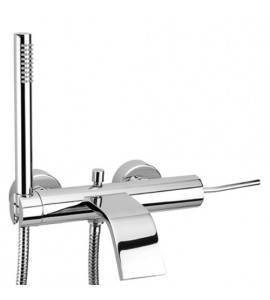 Bath single lever mixer with handshower and double seam flexible hose Effepi THOR Art.9008