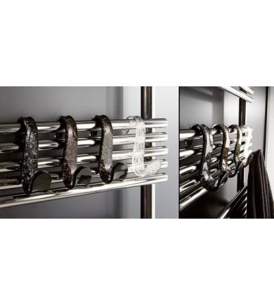 Appendiabiti nero+scaglie argento Art. 1351/AG