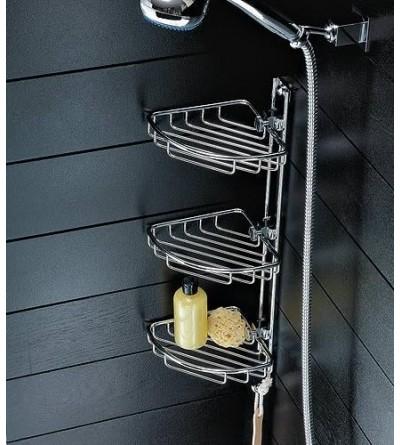Chrome corner shelf 3 shelves for shower TL.Bath For.Box 884