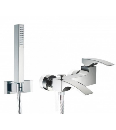 Exposed bath mixer with shower set porta&bini laser 18100