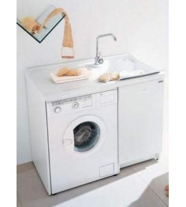 Lavatoio Lavella con porta lavatrice h.89 - 60 x 109 - Bianco 142000