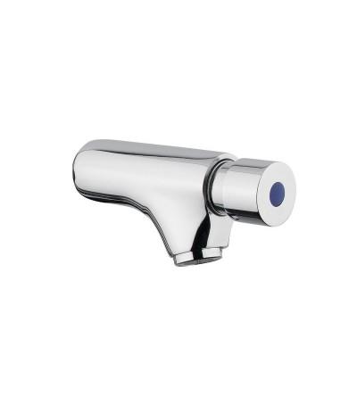 Rubinetto per lavabo temporizzato a parete con comando a pulsante idral 08000/E