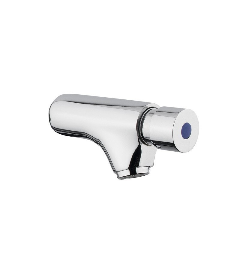 Wall mounted timed basin tap with push button Idral Classic 08000/E