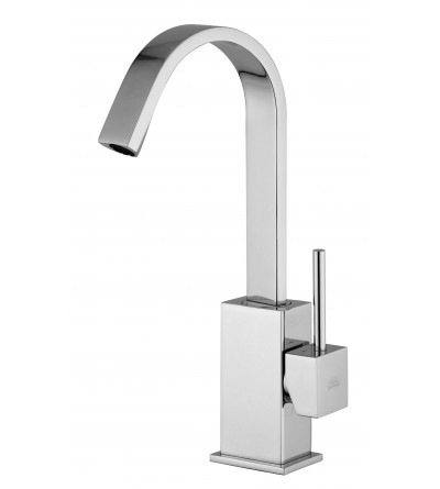 Basin mixer barrel swivel flat Paffoni LEVEL LEA876