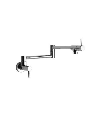 One-hole kitchen tap with swivel spout Paini COX 78CR518