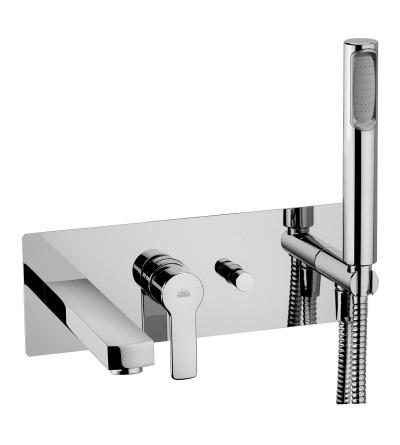 Square chromed brass 300*300 POLLINI ACQUA DESIGN EBS30030CR