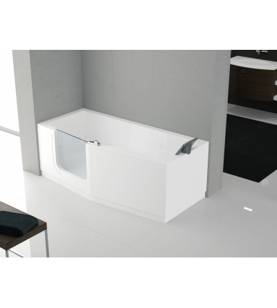 rectangular bath standard door entry facilitated novellini iris