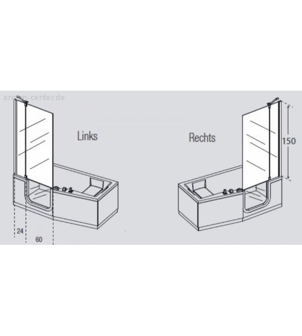 rechteckige wanne mit t r hydromassage plus mit brausebatterie novellini iris rubinetteria shop. Black Bedroom Furniture Sets. Home Design Ideas