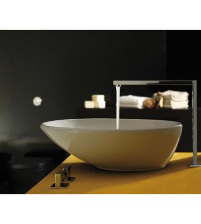 Countertop installation ceramic washbasin Globo Stockholm LAT50BI