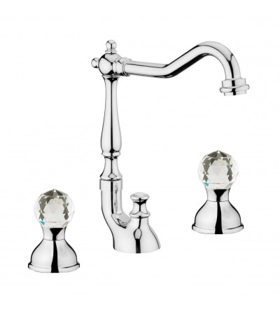 WEBERT - 3-HOLES WASHBASIN MIXER SWIVEL SPOUT - KARENINA KA750202