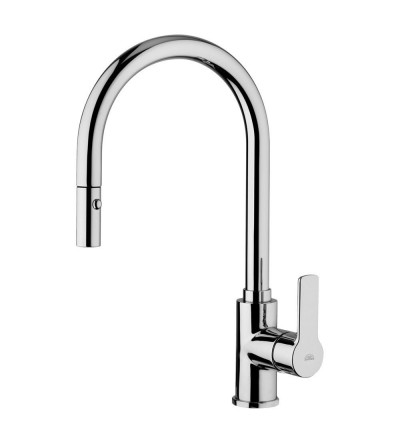 Kitchen mixer with extractable handshower Paffoni RED 285