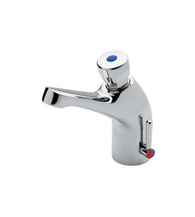 Miscelatore per lavabo temporizzato con comando a pulsante idral 08012