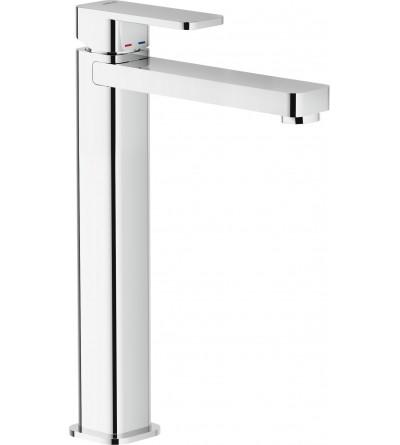 Einhand-Waschtischmischer mit ehöhter Säule u. Ablaufventil nobili loop LP90128/2CR