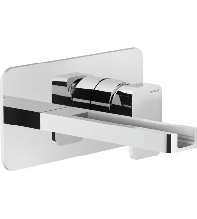 washbasin mixer wall mounted cascade spout nobili loop LPC90198CR