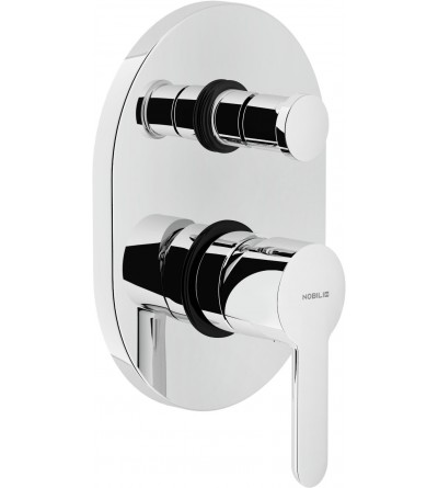 Single lever bath and shower mixer for concealed installation with 2 outlets diverter Nobili ABC AB87100CR