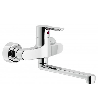 Kitchen mixer wall mounted swivel spout Nobili ABC AB87115CR