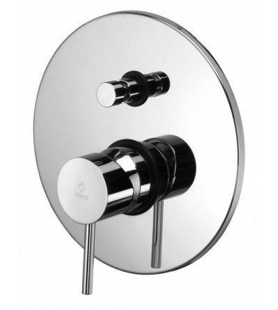 Concealed shower mixer with diverter Paffoni LIGHT LIG015