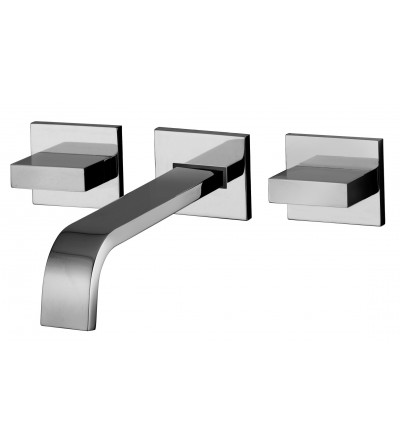Battery basin mixer with wall spout Paffoni LEVEL LEP003