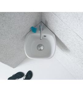 Corner basin ceramic globo  genesis GE050.BI