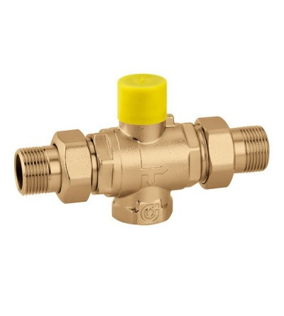 "Three-way ball zone valve. 3/4"" F by-pass connection caleffi 6480"