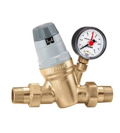 Pressure reducing valve with self-contained replaceable cartridge caleffi 5350