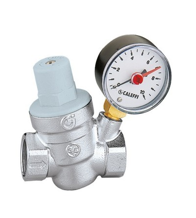 Inclined pressure reducing valve, with pressure gauge caleffi 5332