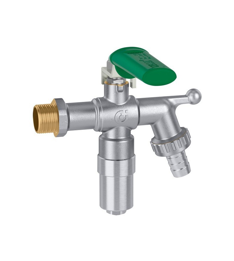 Garden tap, ball type, with...