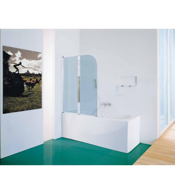 Parete per vasca pieghevole a due ante samo rubinetteria for Parete vasca pieghevole