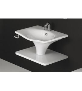 Lavabo libera installazione sospesa nero ceramica LL