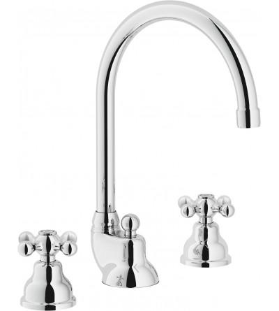 Rubinetto lavabo a 3 fori bocca girevole Nobili grazia GRC5012/1