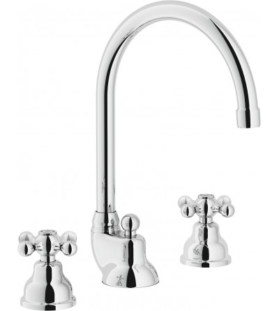 Three-holes basin mixer with swivel spout Nobili Grazia GR5012/1