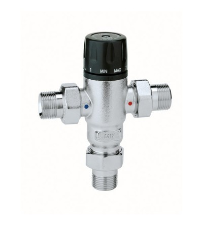 Adjustable, anti-scale thermostatic mixing valve caleffi 5214