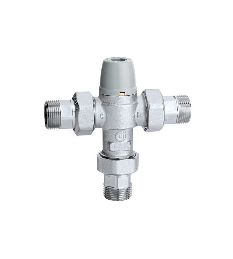 Adjustable anti-scald thermostatic mixing valve caleffi 5213