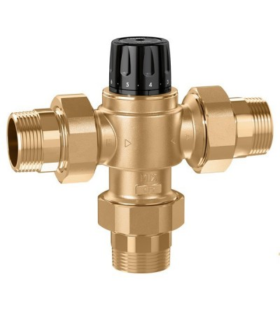 High Flow Thermostatic Mixing Valve (NPT) caleffi 5231