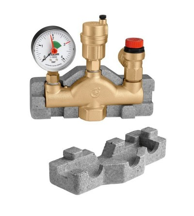 Separador de aire con accesorios para instalaciones de calefacción caleffi 302631