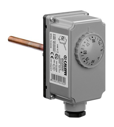 Adjustable immersion thermostat caleffi 622