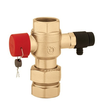 Ball shut-off valve, for expansion vessels caleffi 5580