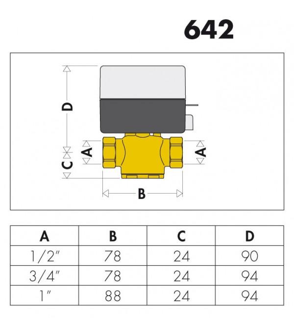 vanne de zone motoris e deux voies z one caleffi 642. Black Bedroom Furniture Sets. Home Design Ideas