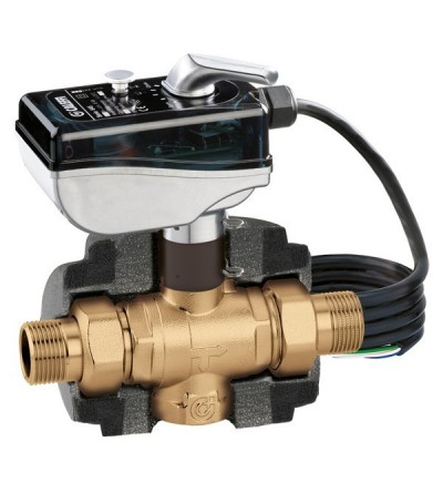 Motorised three-way ball zone valve CALEFFI 6453