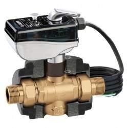 Motorised three-way ball zone valve CALEFFI 6453