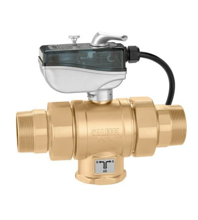 Motorised three-way ball valve caleffi 638T