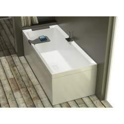 bañera rectangular...
