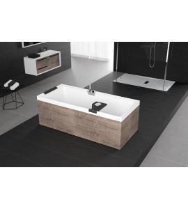 baignoire rectangulaire avec hydromassage air avec châssis avec robinetterie sur gorge novellini divina