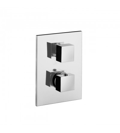 Thermostatic mixer for concealed installation with 2 outlets diverter Paffoni Level LEQ518