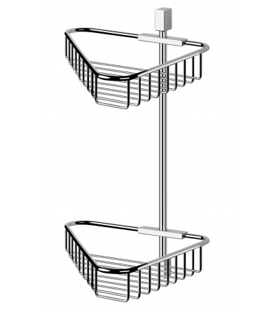 Double angle shower caddy POLLINI ACQUA DESIGN GRI02