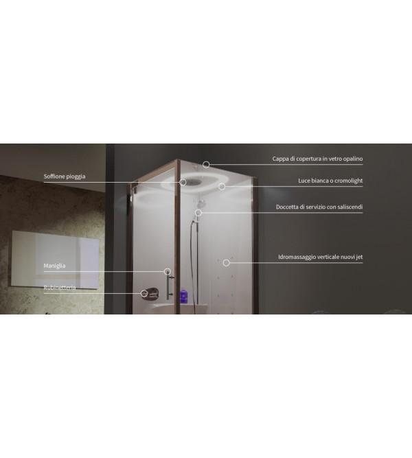 Cabina doccia multifunzione novellini eon 2p120x80 90 - Cabine doccia multifunzione novellini ...